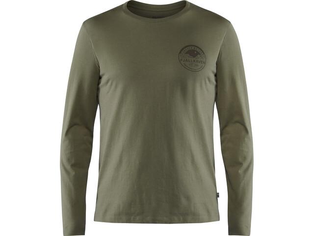 Fjällräven Forever Nature Badge T-shirt à manches longues Homme, tarmac